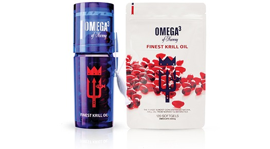Red krill oil supplements and pills